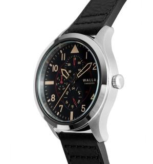 Reloj Hombre Walla - Timekeeper - Steel Black - Seiko