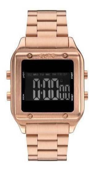 Relógio Euro Feminino Eug2510ad 4j Rose Fashion Fit Digital