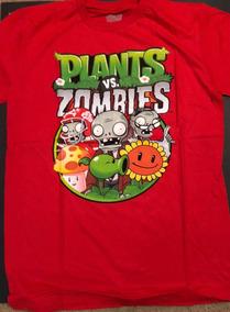 Camiseta Plantas Contra Zombies Talla L