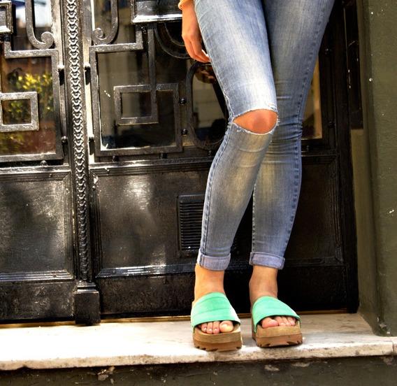 Sandalias Mujer Zapato Gomon Plataforma Zueco Comodo 2020