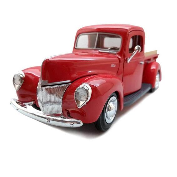 Miniatura Pickup Ford 1940 Vermelha Motormax 1:24