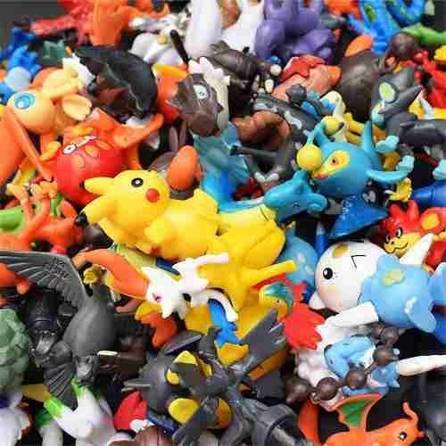 Kit 144 Pokémons Bonecos Miniatura Pikachu 3cm Sem Repetição