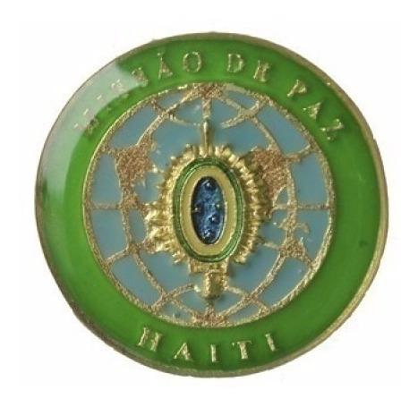 Brevê De Metal Missão De Paz Haiti