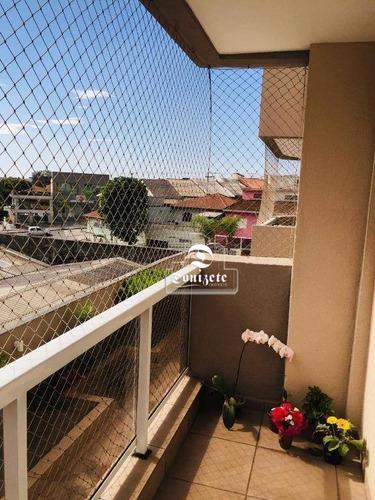 Apartamento Com 3 Dormitórios À Venda, 96 M² Por R$ 530.000,00 - Campestre - Santo André/sp - Ap2273