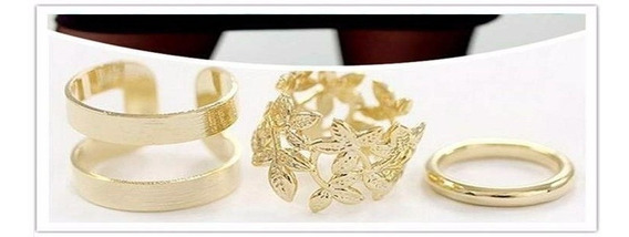 Kit 03 Lindos Anéis Na Dourada ! ! !