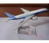 Miniatura De Avião Metal Boeing 787 Com Base Acrílico