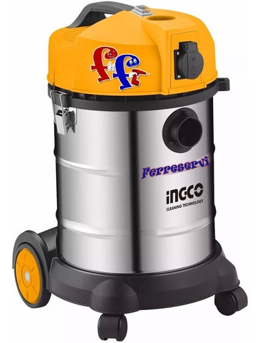 Ff Aspiradora Ingco Seco Humedo 30lt 1400w Industria Vc14301