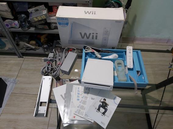 Nintendo Wii Desbloqueado Por Soft Na Caixa Completo