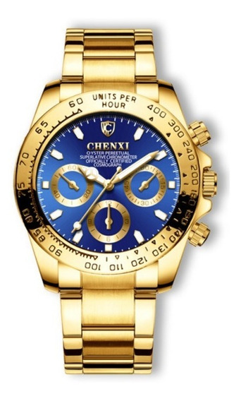 Relógios De Luxo Quartz Masculino Prova D Agua Chenxi