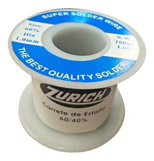 Estaño 0.8mm 60/40 100 Gramos 60% Zurich