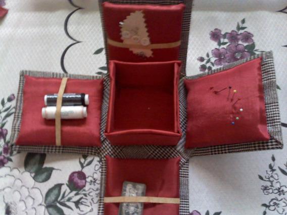 Kit Caixa De Costura Artesanal