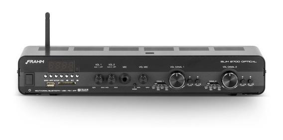 Amplificador Frahm Slim 2700 Optical 160w Com Entrada Óptico