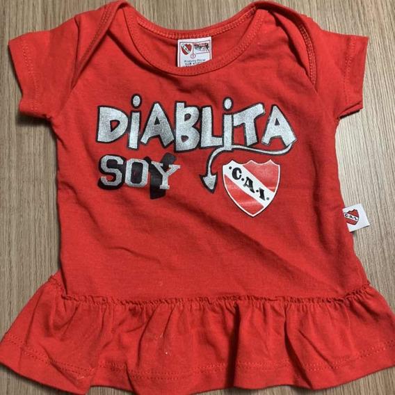 Remera Nenas Independiente. Producto Oficial. Talle 1