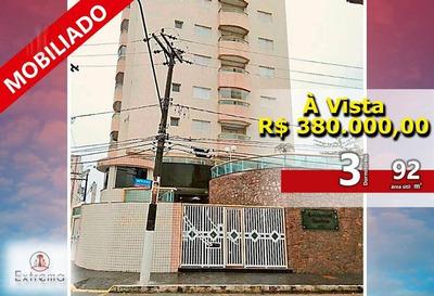 Apartamento Com 3 Dormitórios À Venda, 92 M² Por R$ 380.000 - Aviação - Praia Grande/sp - Ap0910