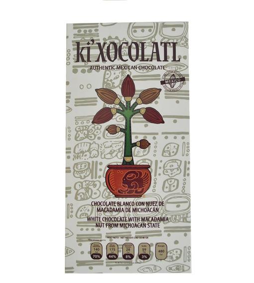 Chocolate Ki Xocolatl Blanco Trozos De Nuez De Macadamia
