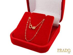 Corrente Feminina Americana Cartier Em Ouro 18k 45cm C/nota