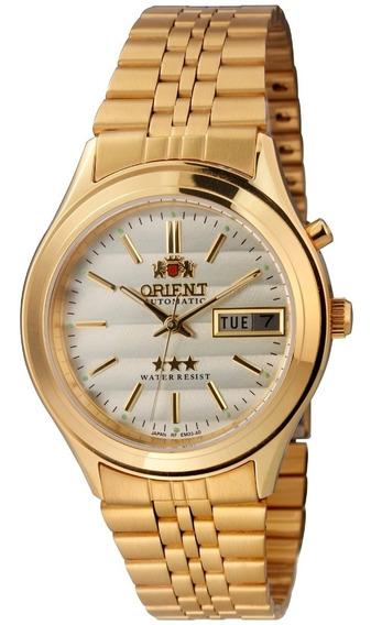 Relógio Orient Masculino Automático Em03 C1kx Dourado