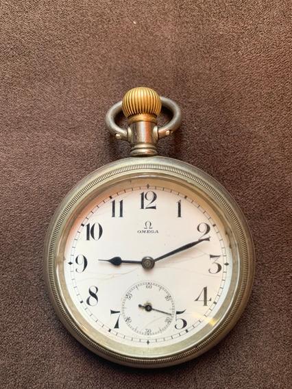 Reloj De Bolsillo Omega Jumbo Ferrocarilero