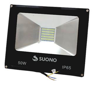 Reflector Micro Led 50w Exterior Bajo Consumo Alta Luminosidad Soporta Lluvia Luz Potente