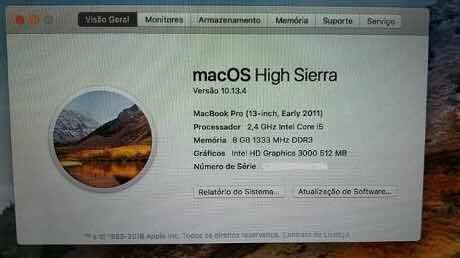 Macbook Pro 2011 R$2300,00