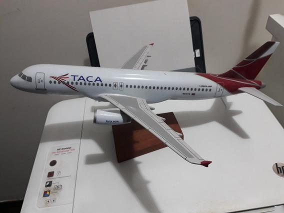 Maquete De Avião A320 Da Taca Airlines