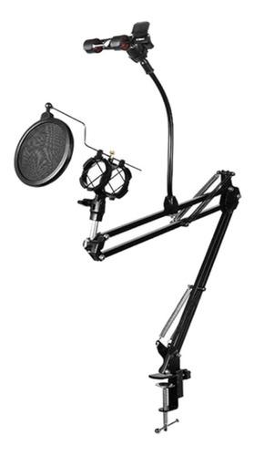 Soporte Para Microfono Brazo Filtro Pop Soporte Celular Mesa