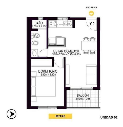 Apartment 1 Dormitorio En Venta - Centro, Rosario