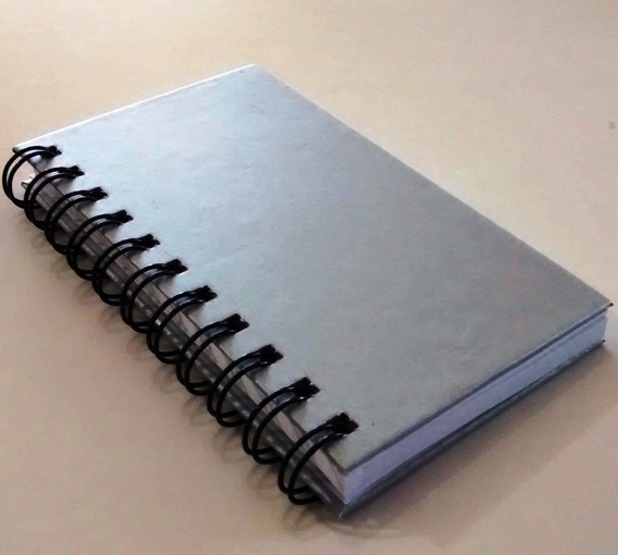 2 Caderninhos Prata Artesanato Bloco Anotações Com Capa Dura