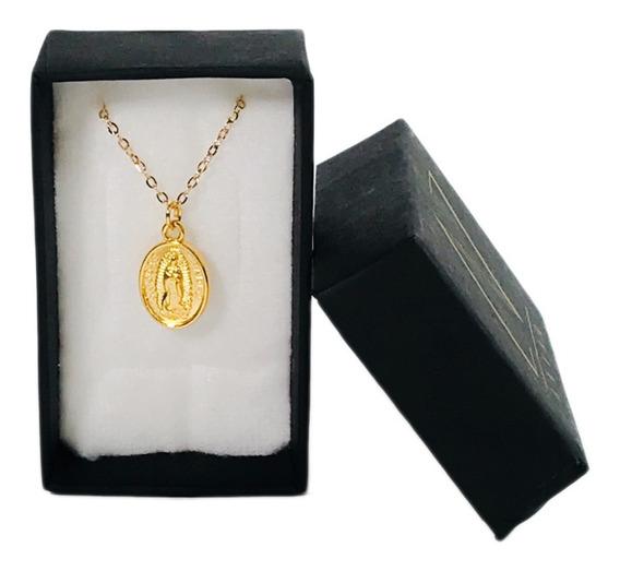 Medalla Virgen Y San Judas Tadeo Doble Vista Chapa Oro 18k