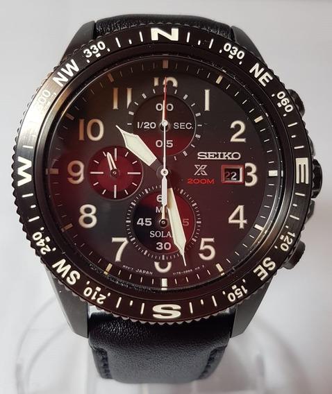 Seiko Prospex Solar Watch Ssc707p1cronografo Black