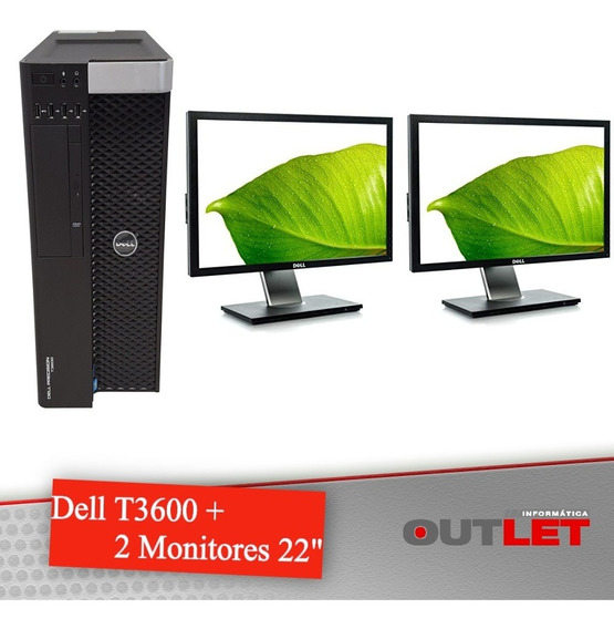 Workstation Dell Precision T3600 Xeon + 2 Monitores Dell 22