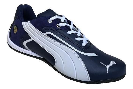 Tenis Masculino Puma Originl Axul Azul