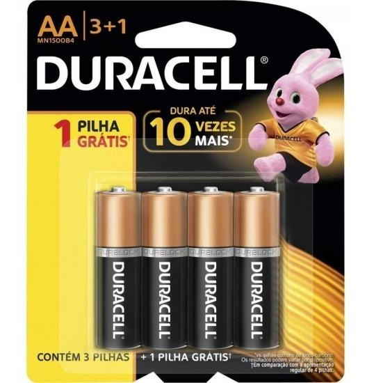 Pilha Alcalina Aa Leve 4/pague 3 Mn1500b4 B4 Duracell Caixa