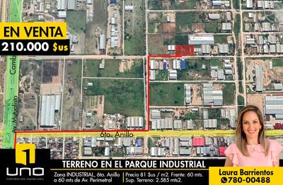 Terreno En Venta En Plena Zona Parque Industrial