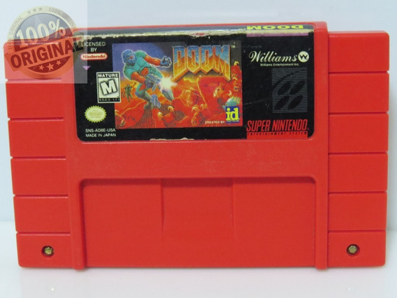 Cod 211 Doom Original Snes Super Nintendo Usado