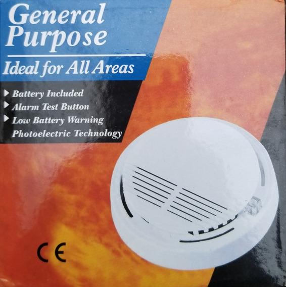 Sensor Detector De Humo Autónomo Inalámbrico Con Bateria 9v