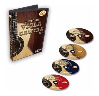 Curso Completo De Viola Caipira Em Dvd - 4 Dvds - Edon