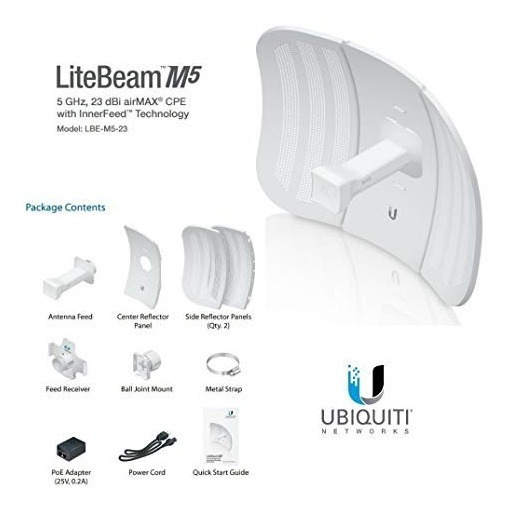 Kit 4 Unidades- Litebeam M5- Com Fonte Poe