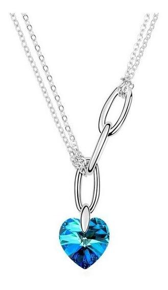 Collar Con Cristales, Amor De Cristal Aca8-13-41 -baño De Or