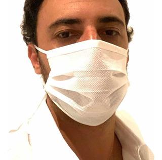 Máscara Descartável Tripla C/ Clipe Nasal Kit 50