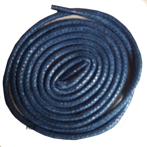 Imagem 1 de 1 de 1 Par Cadarço Redondo Botas Coturnos Tenis 1,30 Azul Marinho