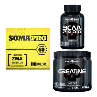 Soma Pro 60 Tab Iridium + Creatina 150g Black + Bcaa 100 Tab