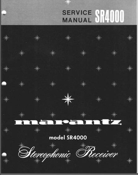 Manual De Serviço Marantz Sr 4000 Receiver Stereo
