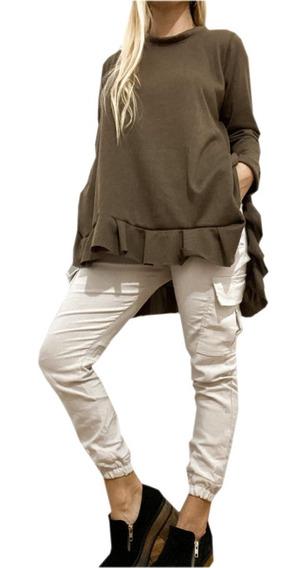 Pantalon Cargo Bengalina Bolsillos Colores Talles