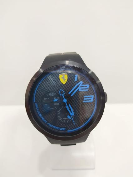 Relógio Scuderia Ferrari Masculino Borracha Preto Original