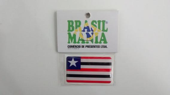 Adesivo Resinado Com A Bandeira Do Estado Do Maranhão.