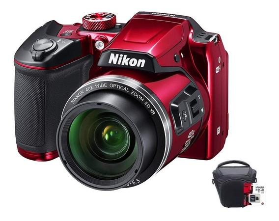 Camara Nikon Digital Coolpix B600 X60 Hd Zoom Bolso 32gb