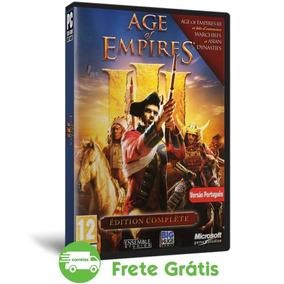 Age Of Empires 3 Pc Todas Expansões Português Mídia Física