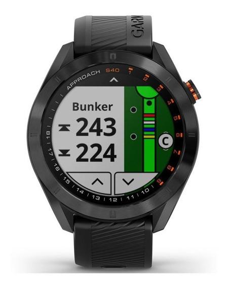 Relógio Smartwatch Garmin Approach S40 Golf Preto