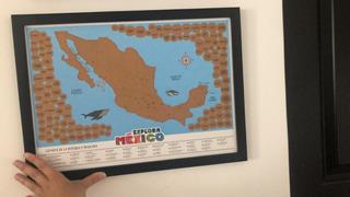 Mapa Mexico Y Pueblos Magicos Rascar Scratch Map 42x30